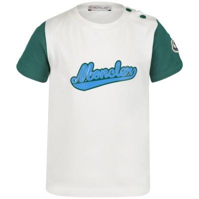 Afbeelding van Moncler 8023850 baby t-shirt off white