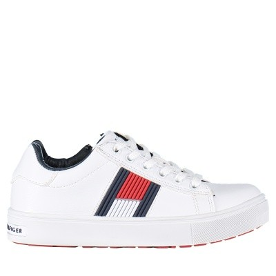 Picture of Tommy Hilfiger T3B430099 kids sneakers white