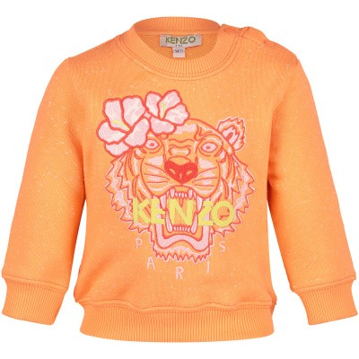Picture of Kenzo KN15078BB baby sweater salmon