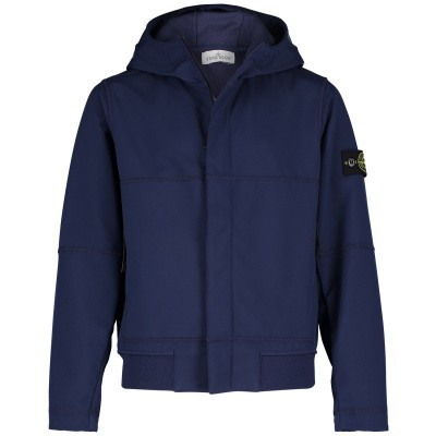 Picture of Stone Island 701640234 kids jacket dark blue