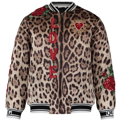 Picture of Dolce & Gabbana L5JB95 kids jacket panther