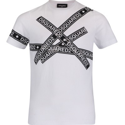 Picture of Dsquared2 DQ03EZ kids t-shirt white