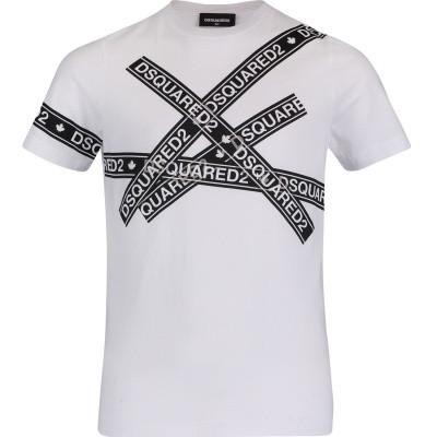 Afbeelding van Dsquared2 DQ03EZ kinder t-shirt wit