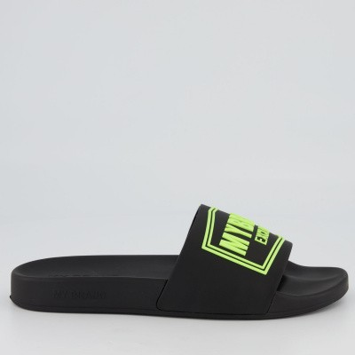 Picture of My Brand MMBSL001CL003 mens flipflops black