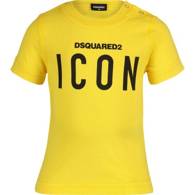 Picture of Dsquared2 DQ03G1 baby shirt yellow