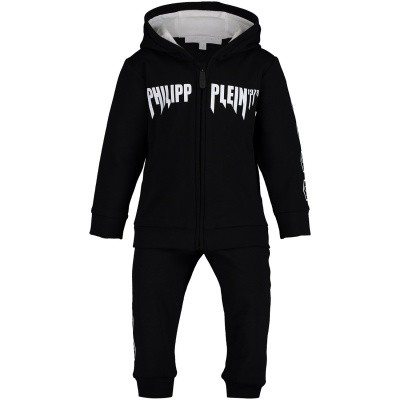 Picture of Philipp Plein AJJ0011 baby sweatsuit black