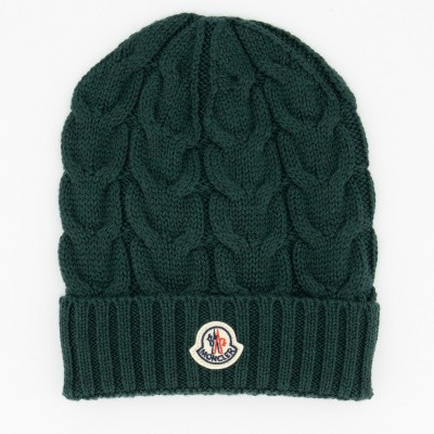 Picture of Moncler 0011005 kids hat dark green