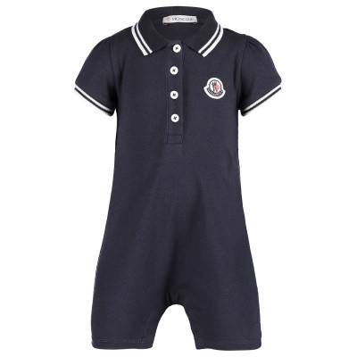 Picture of Moncler 8568205 baby playsuit navy