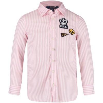 Afbeelding van Ralph Lauren 311701646 kinder overhemd roze