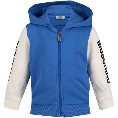Afbeelding van Moschino MOF00Q baby vest cobalt blauw