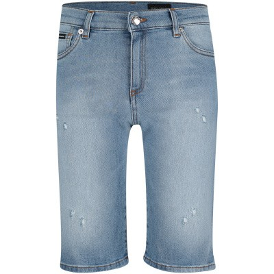 Picture of Dolce & Gabbana L42Q37 kids shorts jeans