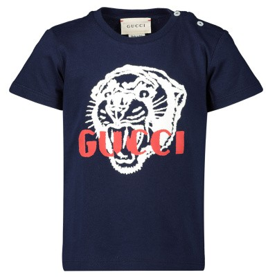 Picture of Gucci 548034 baby shirt navy