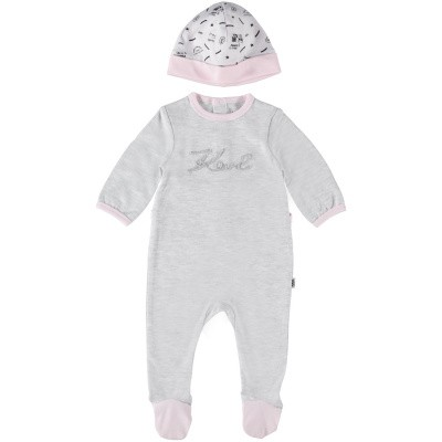 Picture of Karl Lagerfeld Z98037 baby playsuit light pink