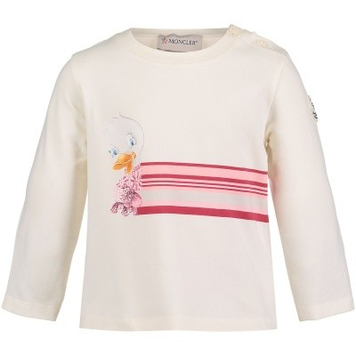 Afbeelding van Moncler 8067850 baby t-shirt off white