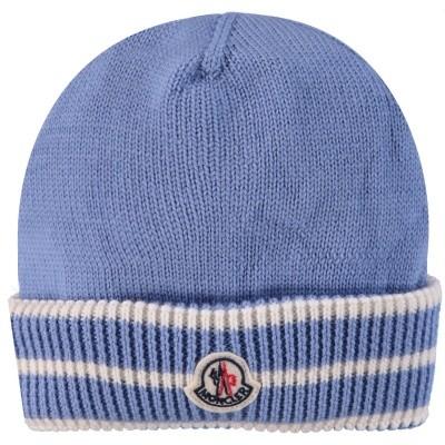 Afbeelding van Moncler 9921105 babymutsje licht blauw