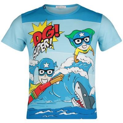 Afbeelding van Dolce & Gabbana L4JT6N G7QXA kinder t-shirt blauw