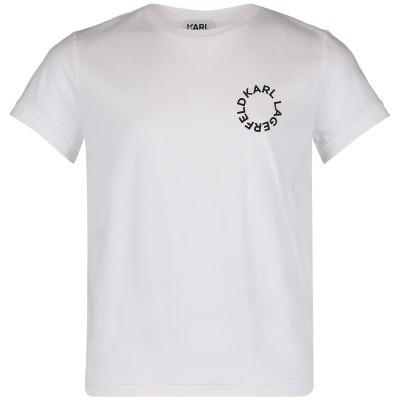 Afbeelding van Karl Lagerfeld Z25181 kinder t-shirt wit