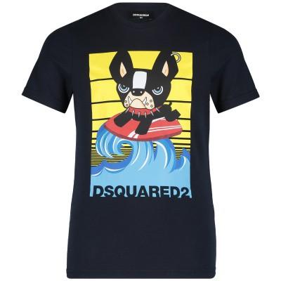 Afbeelding van Dsquared2 DQ03A1 kinder t-shirt navy