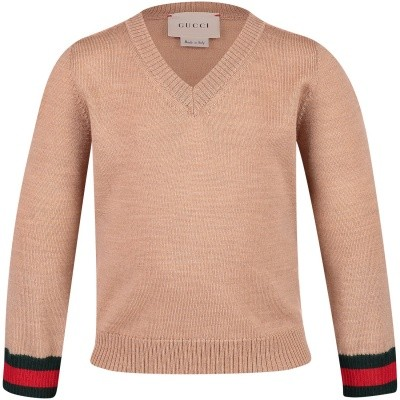 Picture of Gucci 418776 baby sweater camel