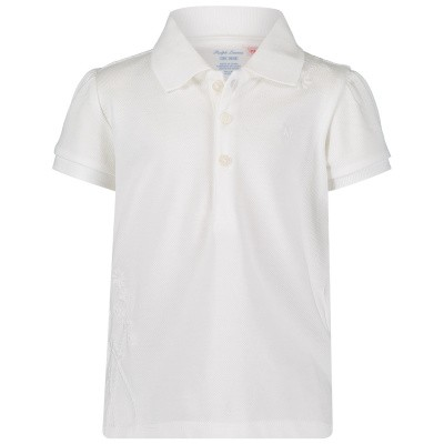 Picture of Ralph Lauren 736005 baby poloshirt white