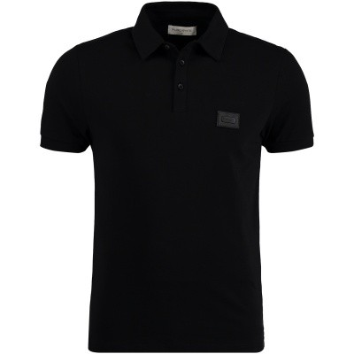 Picture of Pure White POLO SS mens polo shirt black