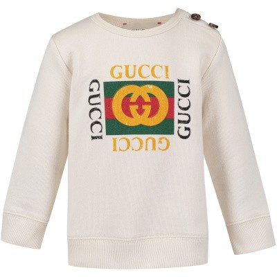Picture of Gucci 497819 baby sweater off white