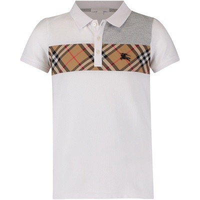 Picture of Burberry 8001081 kids polo shirt white