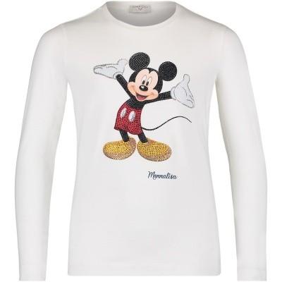 Afbeelding van MonnaLisa 192603S5 kinder t-shirt off white