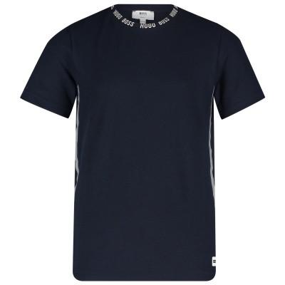 Afbeelding van Boss J25D88 kinder t-shirt navy