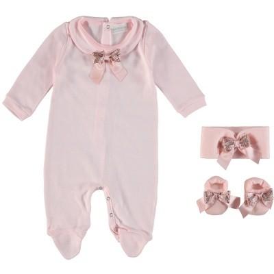 Picture of La Perla 48867 baby playsuit light pink