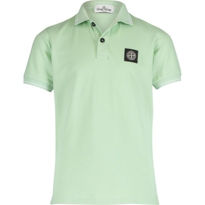 Picture of Stone Island 701621348 kids polo shirt mint