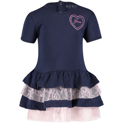 Picture of Guess A91K19 baby dress navy