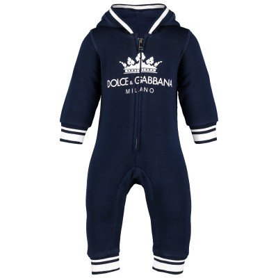 Picture of Dolce & Gabbana L1JO9L baby playsuit navy