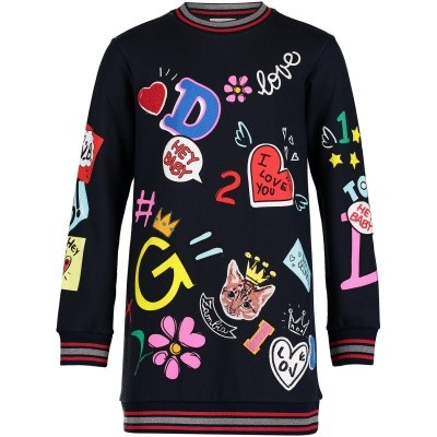 Afbeelding van Dolce & Gabbana L5JDY3 kinderjurk navy