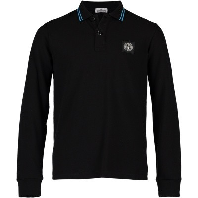 Picture of Stone Island 691620748 kids polo shirt black