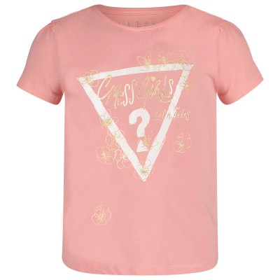 Picture of Guess K92I12 kids t-shirt salmon