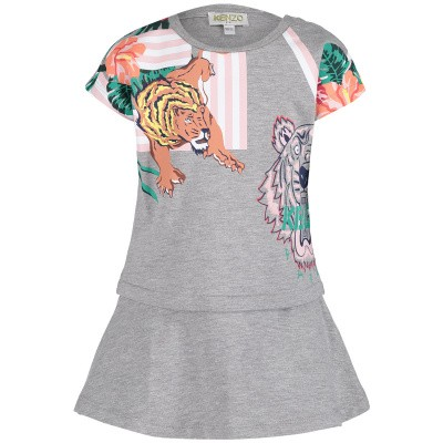 Picture of Kenzo KN30078BB baby dress light gray