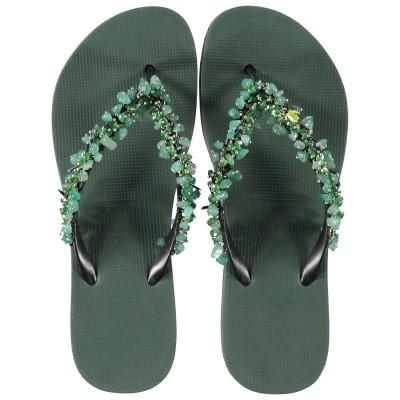 Afbeelding van UZURII JADE FABULOUS dames slippers groen