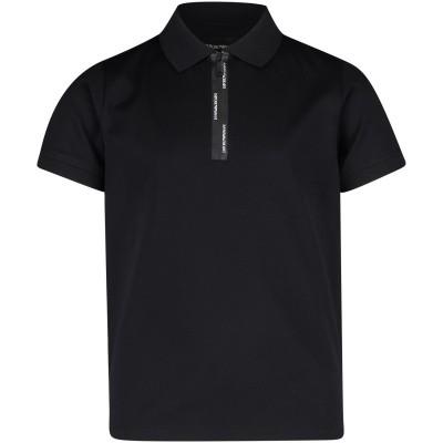 Picture of Armani 3G4FJ2 kids polo shirt black