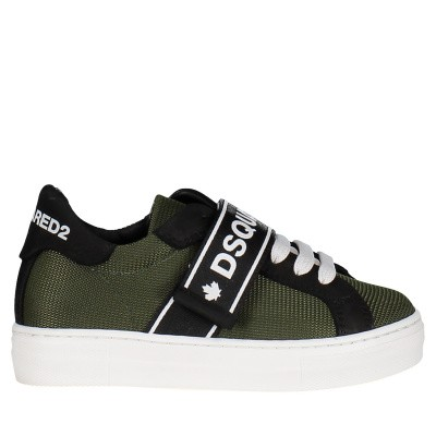 Picture of Dsquared2 59844 kids sneakers army