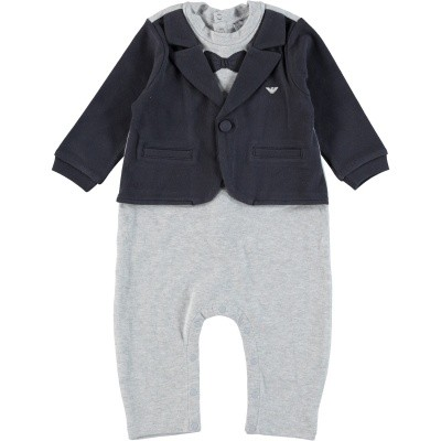 Picture of Armani 6ZHD05 baby playsuit navy