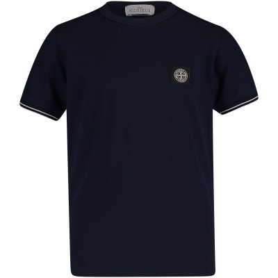Picture of Stone Island 701620348 kids t-shirt navy