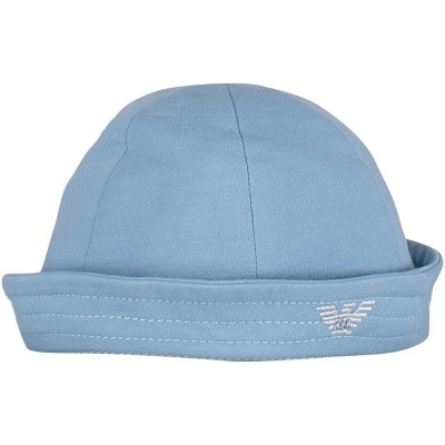 Picture of Armani 404366 baby hat light blue