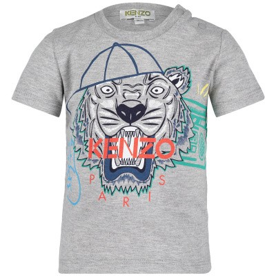 Picture of Kenzo KN10698BB baby shirt light gray