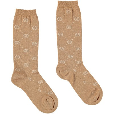 Picture of Gucci 480715 kids socks gold
