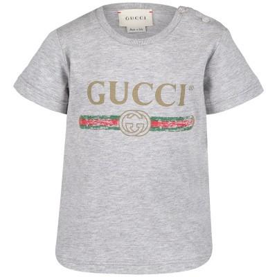 Afbeelding van Gucci 504121 baby t-shirt licht grijs
