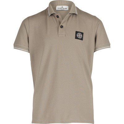Picture of Stone Island 701621348 kids polo shirt taupe
