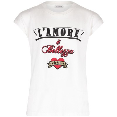 Afbeelding van Dolce & Gabbana L5JTCV G7RMD kinder t-shirt wit