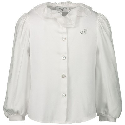 Picture of MonnaLisa 37CPAT baby blouse off white