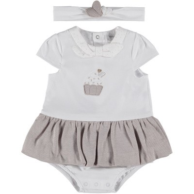 Picture of Mayoral 1802 baby playsuit white